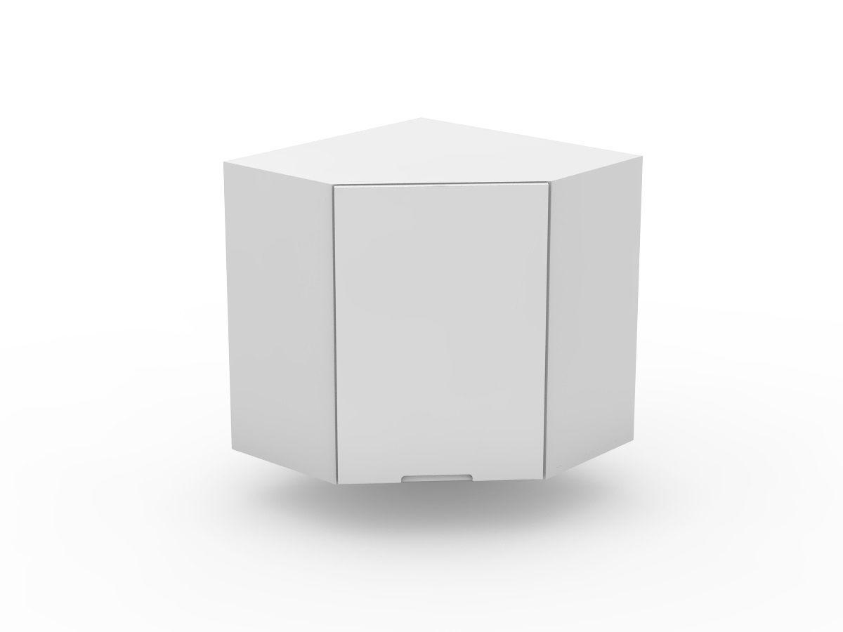 INTEGRATED HANDLE - TOP CORNER CABINET - ANGLED DOOR (WCD600-1)