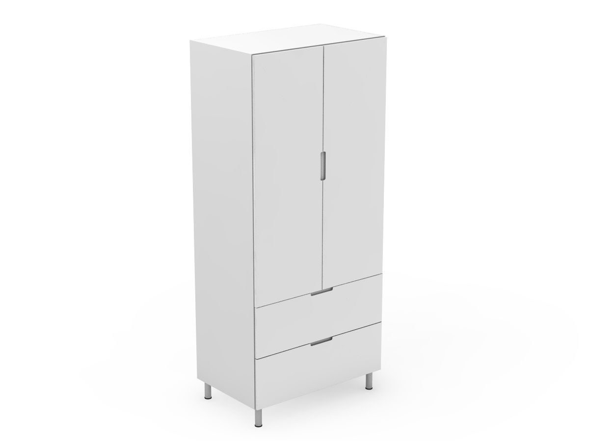 INTEGRATED HANDLE - 2 DOOR PANTRY WITH 2 POT DRAWERS (P400-22PMB)
