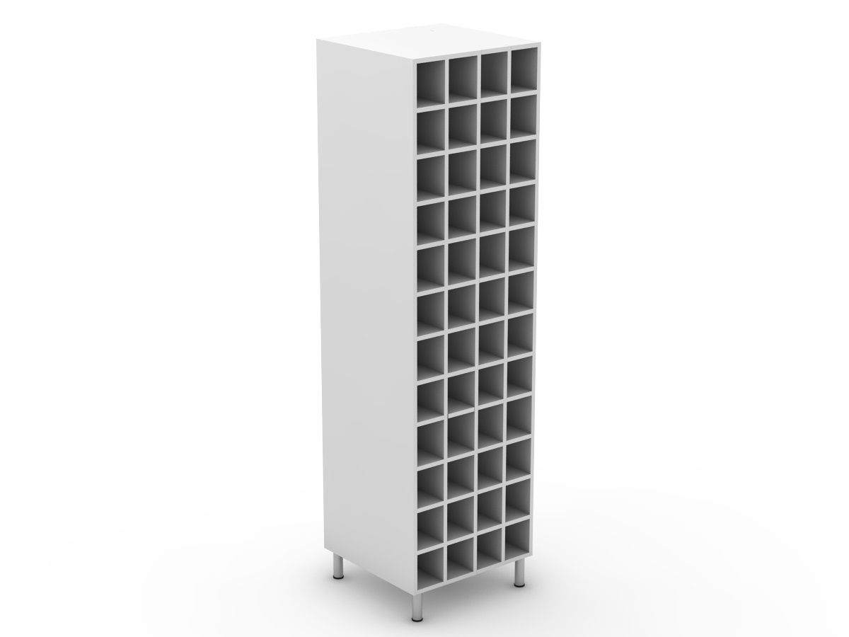 POLY DOORS - PANTRY WINE RACK - 4 ROW (P600WR)