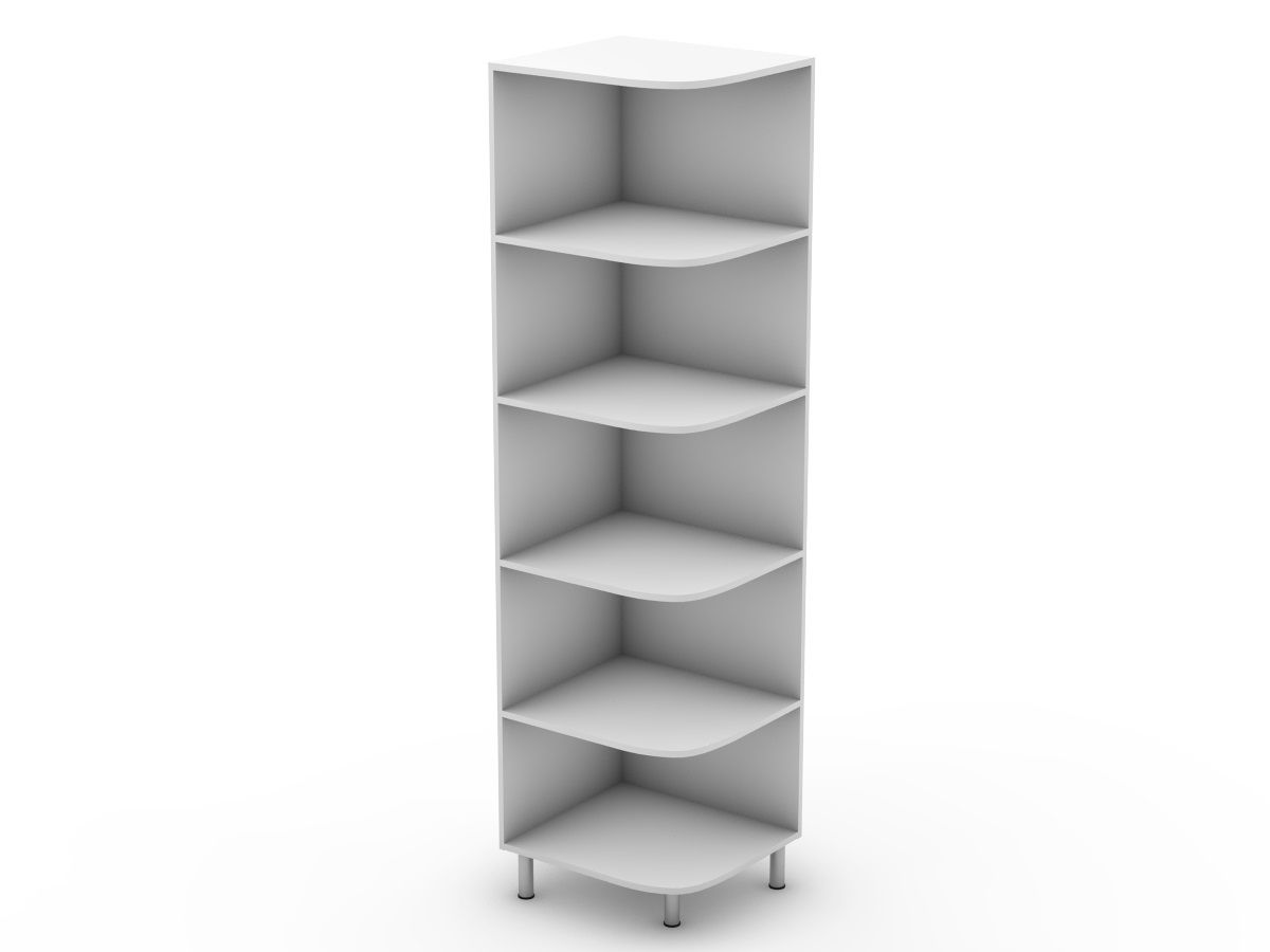 PROVINCIAL - OPEN PANTRY CABINET - ROUNDED SHELVES (P300ER)