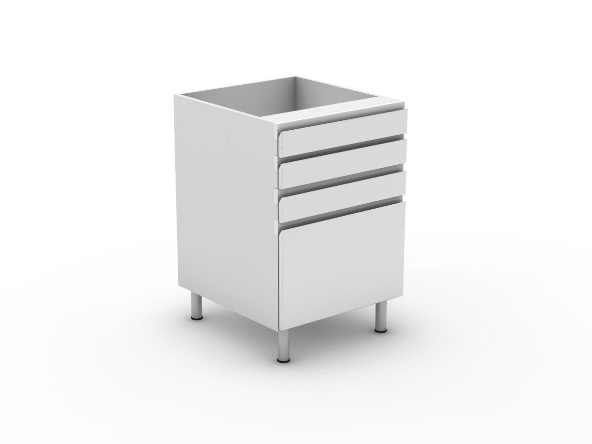 SHADOWLINE - 4 DRAWERS - 3 SMALL + 1 POT (B3003S1PMB)