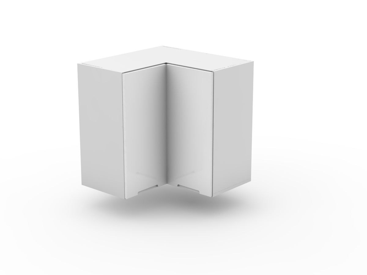 INTEGRATED HANDLE - TOP CORNER CABINET - BI FOLD (WC600-BF)