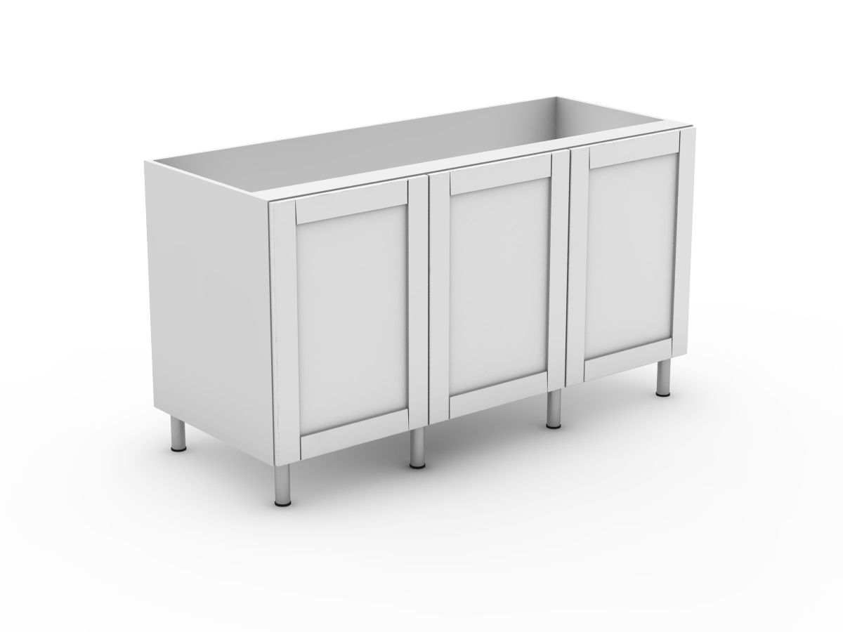 HAMPTION - 3 DOOR BASE CABINET (B600-3)