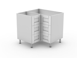 HAMPTION - 3 DRAWER CORNER CABINET (BC9003T)