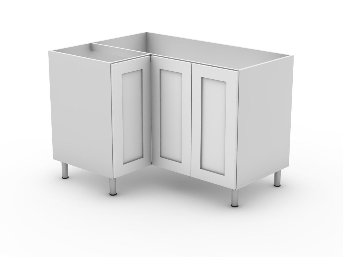 SHAKER - BASE 3 DOOR CORNER CABINET (BCLL900 left ) (BCLR900 right)