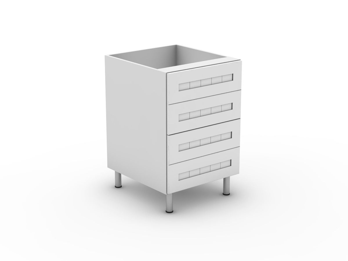 PROVINCIAL - 4 EQUAL DRAWERS (B3004EMB)
