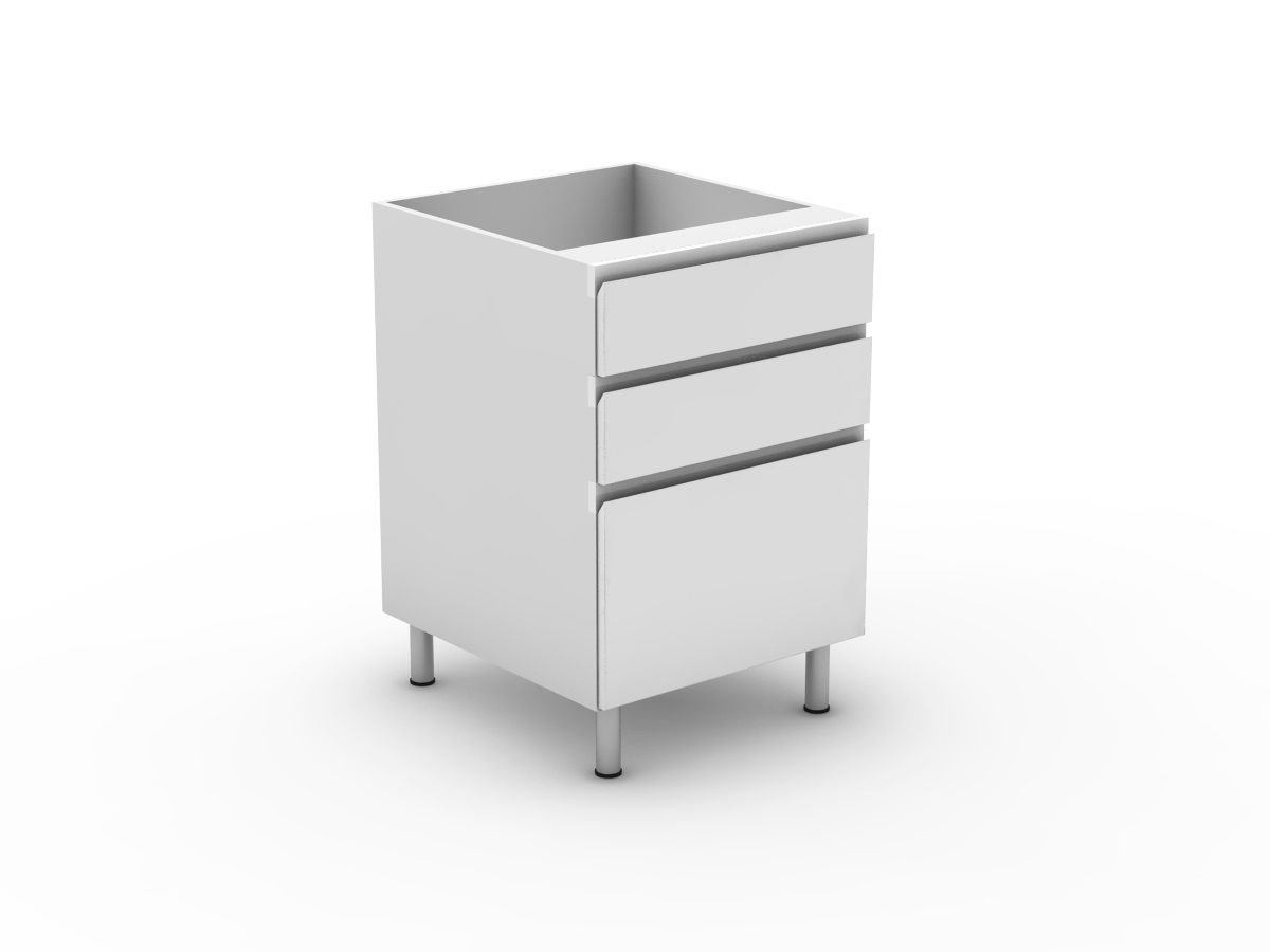 SHADOWLINE - 3 DRAWERS - 2 SMALL + 1 POT (B3002S1PMB)