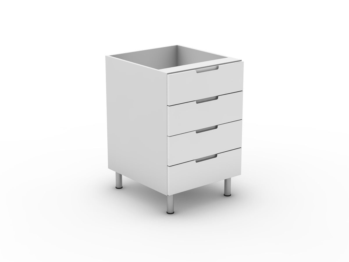 INTEGRATED HANDLE - 4 EQUAL DRAWERS (B3004EMB)