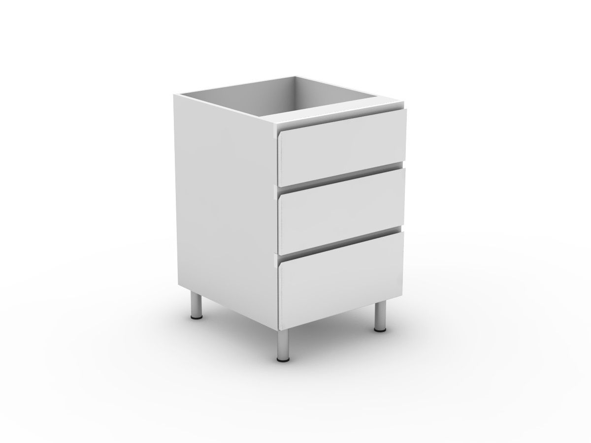 SHADOWLINE - 3 DRAWERS - 1 MED + 2 POTS (B3001M2PMB)