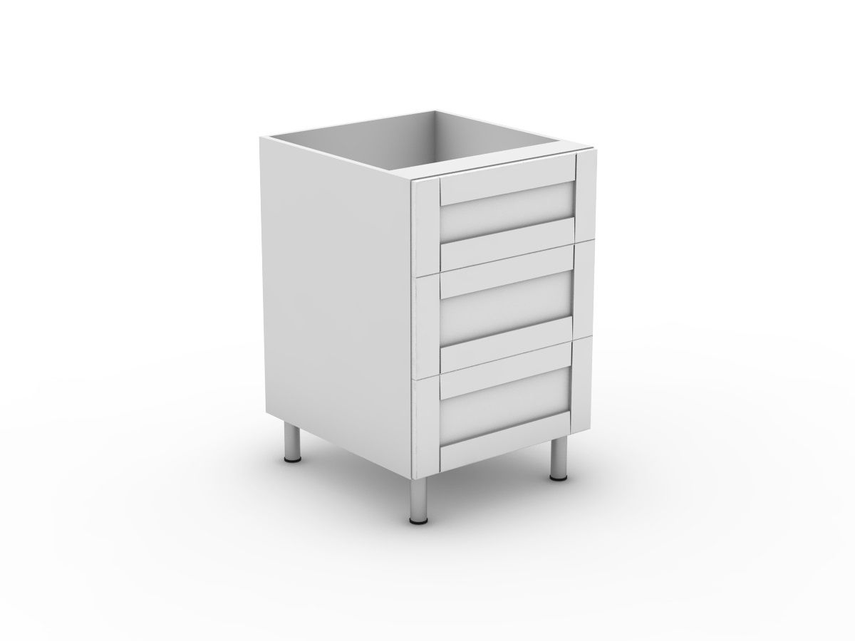 HAMPTION - 3 DRAWERS - 1 MED + 2 POTS (B3001M2PMB)