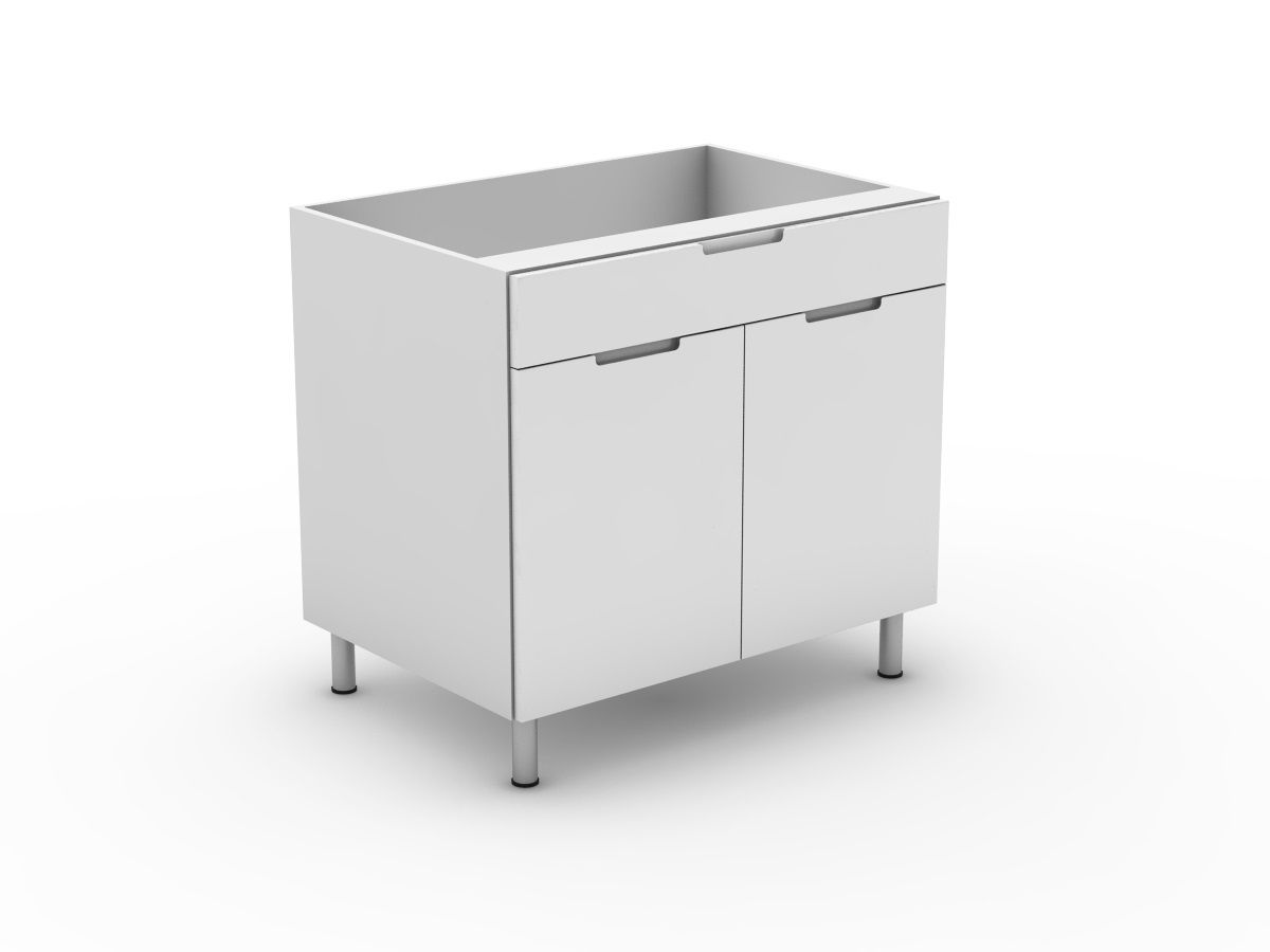 INTEGRATED HANDLE - 1 DRAWER + 2 DOORS (B300-21MB)