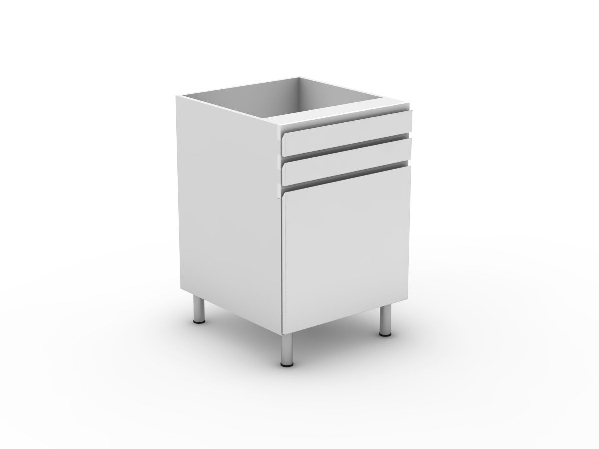 SHADOWLINE - 2 DRAWERS + 1 DOOR (B300-12MB)