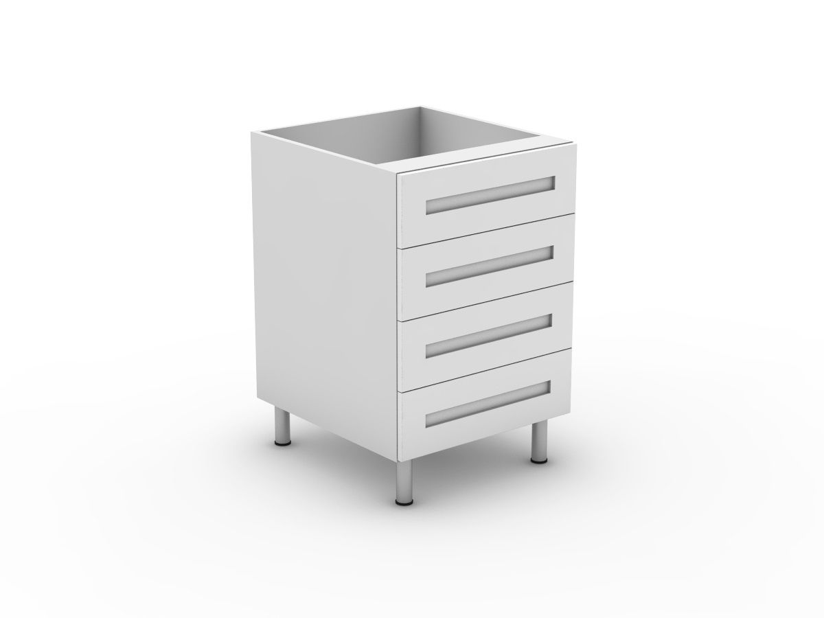 SHAKER - 4 EQUAL DRAWERS (B3004EMB)