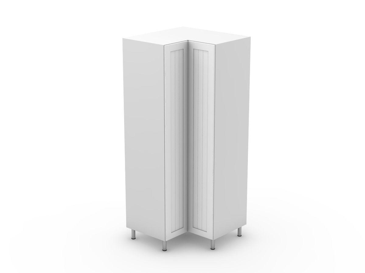 PROVINCIAL - CORNER PANTRY - BI FOLD DOORS - SOLID BASE (CP900-BF)