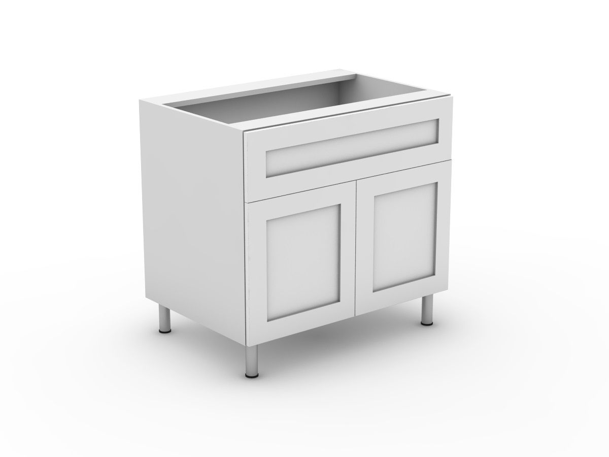 SHAKER - 1 SINK DRAWER + 2 DOORS (B900S-21MB)
