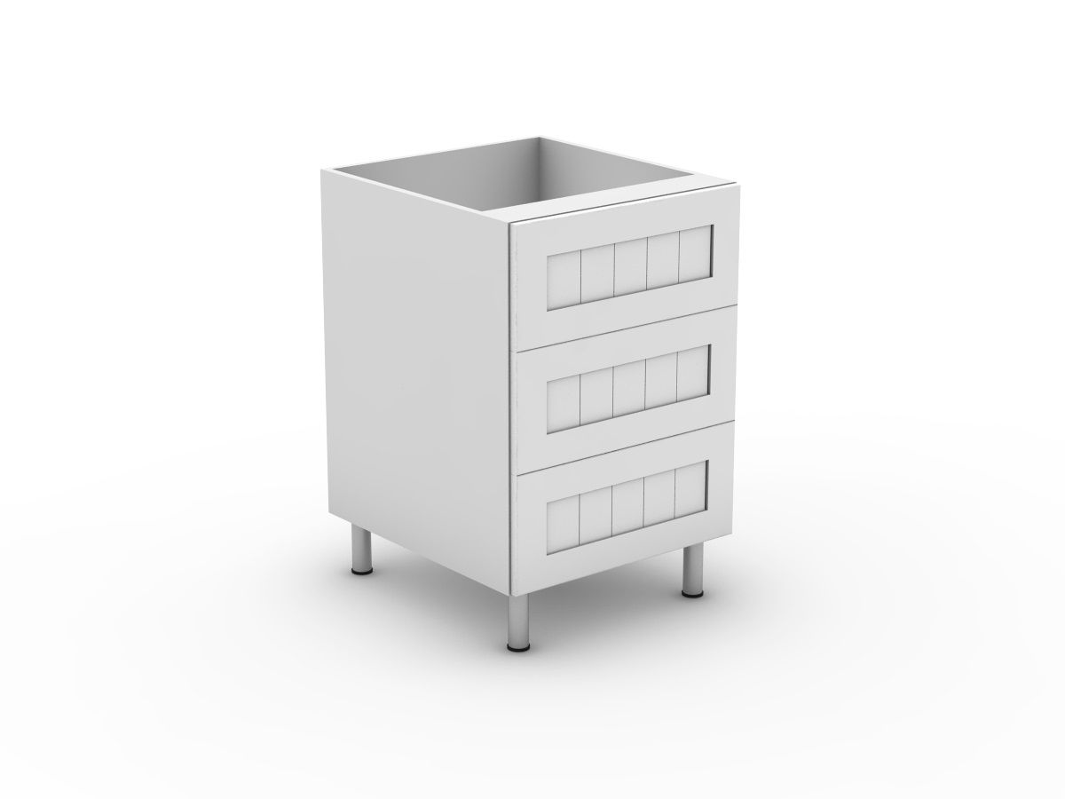 PROVINCIAL - 3 EQUAL DRAWER (B3003EMB)