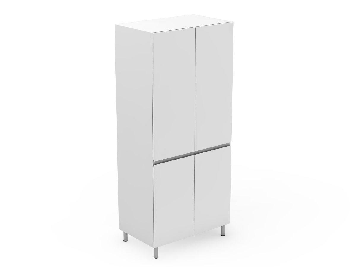 SHADOWLINE - 4 DOOR PANTRY - SPLIT AT BENCHTOP HEIGHT (P400-4SDB)