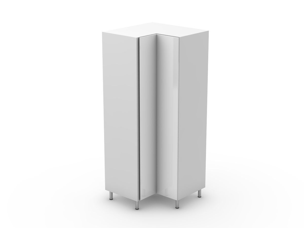 SHADOWLINE - CORNER PANTRY - BI FOLD DOORS - SOLID BASE (CP900-BF)