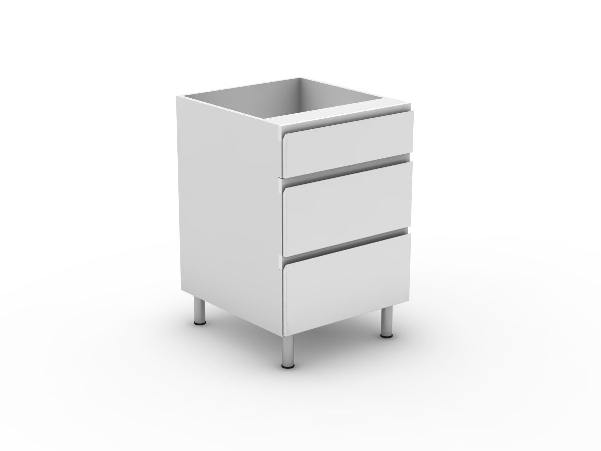 SHADOWLINE - 3 DRAWERS - 1 SMALL + 2 POT (B3001S2PMB)