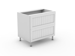 PROVINCIAL - 2 POT DRAWER BASE CABINET (B3002MB)