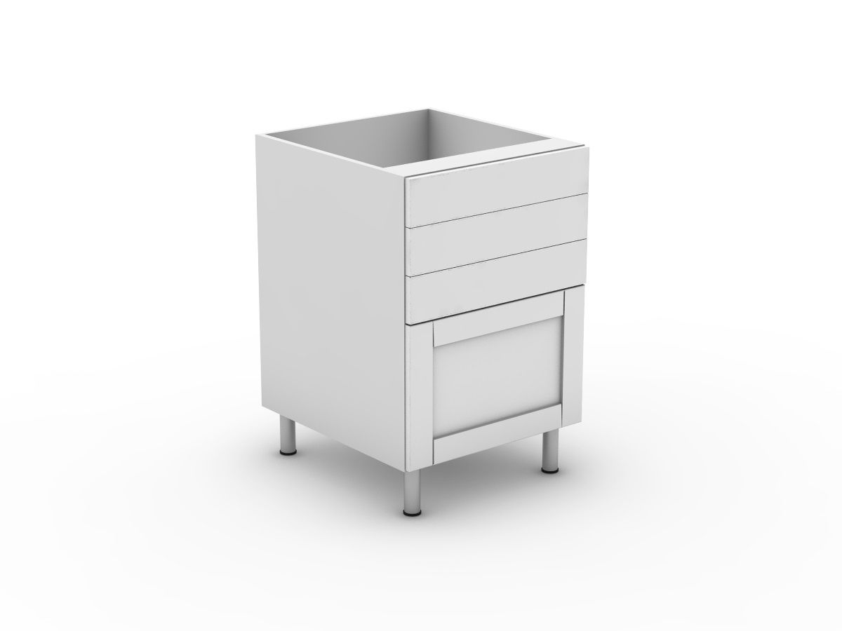 HAMPTION - 4 DRAWERS - 3 SMALL + 1 POT (B3003S1PMB)