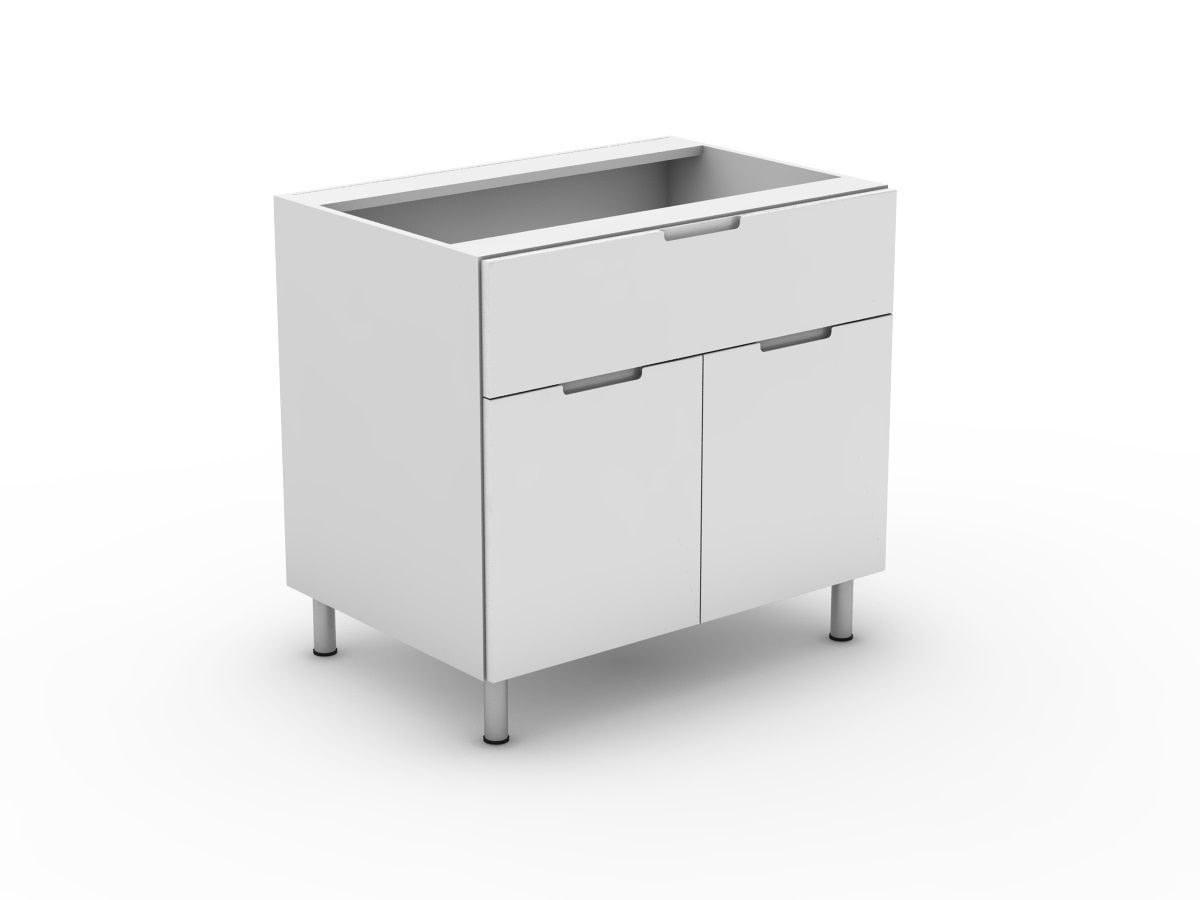 INTEGRATED HANDLE - 1 SINK DRAWER + 2 DOORS (B900S-21MB)