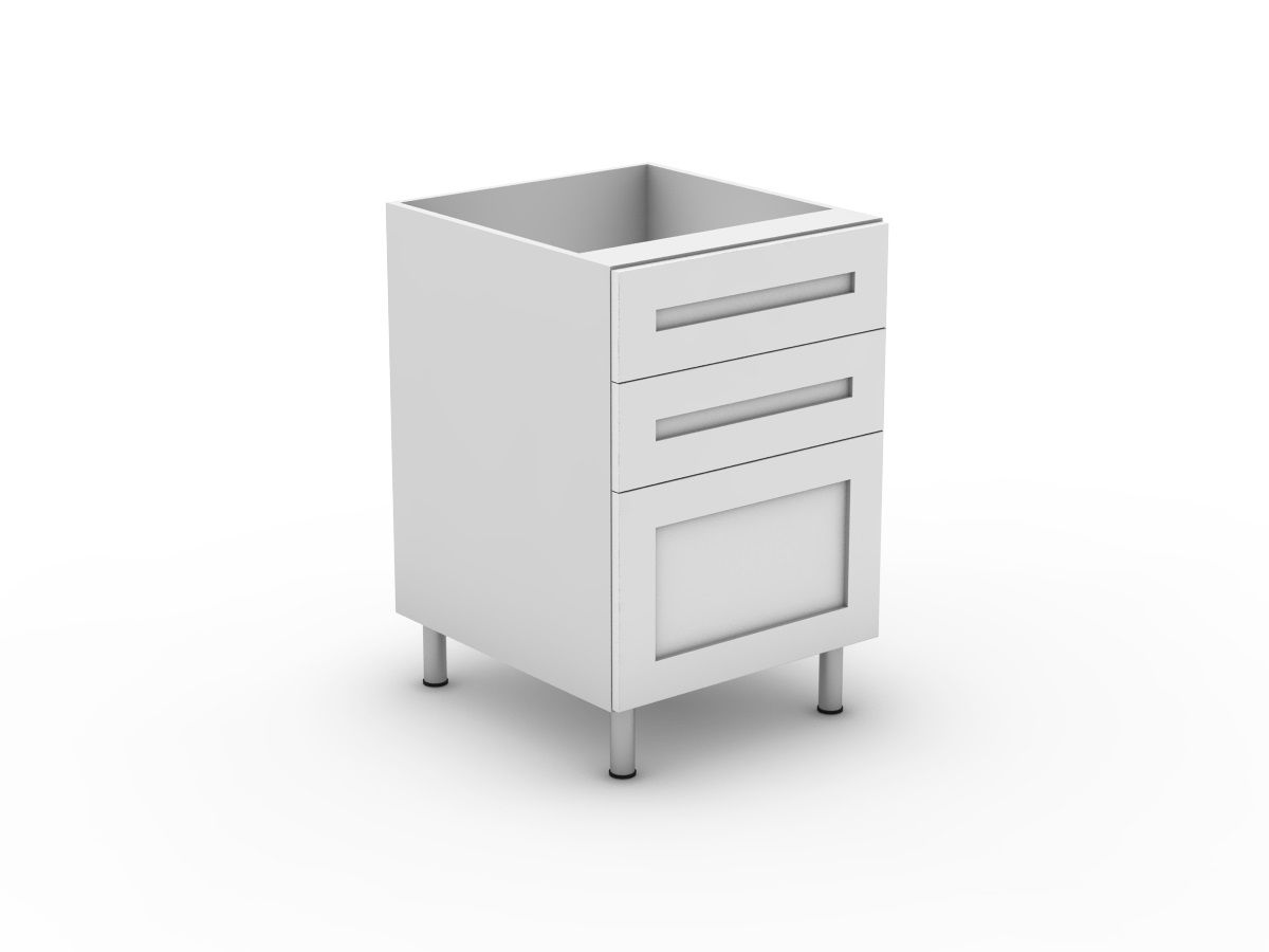 SHAKER - 3 DRAWERS - 2 SMALL + 1 POT (B3002S1PMB)