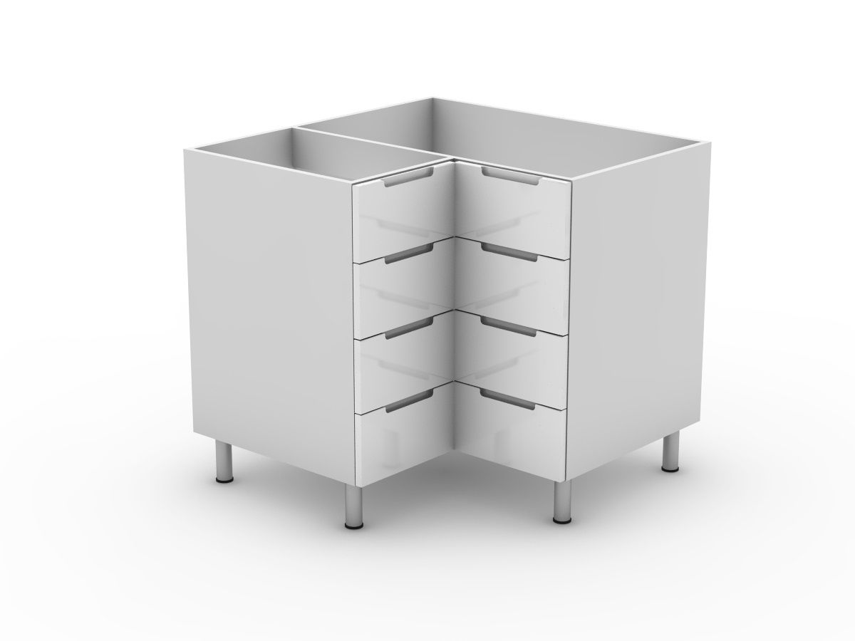 INTEGRATED HANDLE - 4 DRAWER CORNER CABINET (BC9004T)