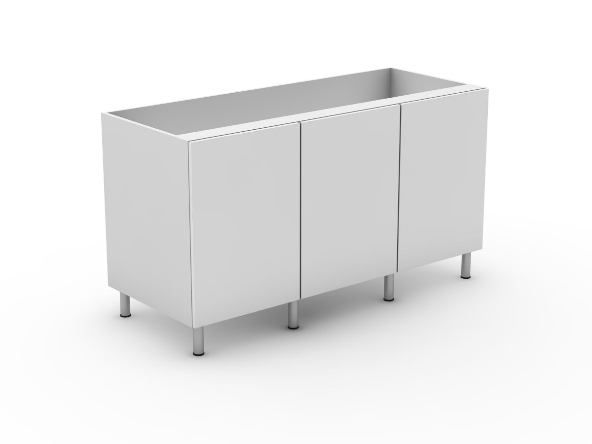 POLY DOORS - 3 DOOR BASE CABINET (B600-3)