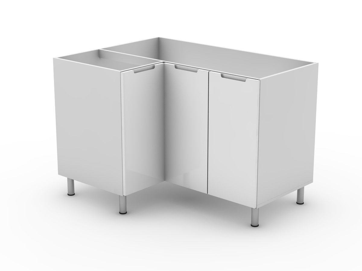 INTEGRATED HANDLE - BASE 3 DOOR CORNER CABINET (BCLL900 left ) (BCLR900 right)
