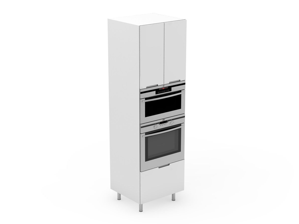 INTEGRATED HANDLE - APPLIANCE TOWER - MICROWAVE + OVEN - 2 DOORS + 1 POT (AT600-21MB+MW+O)