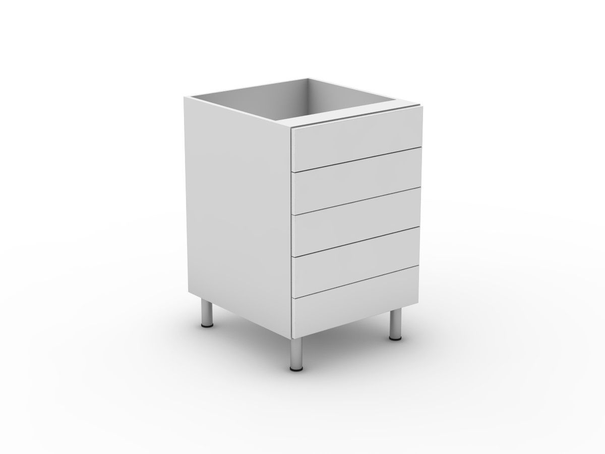 POLY DOORS -5 EQUAL DRAWERS (B3005EMB)