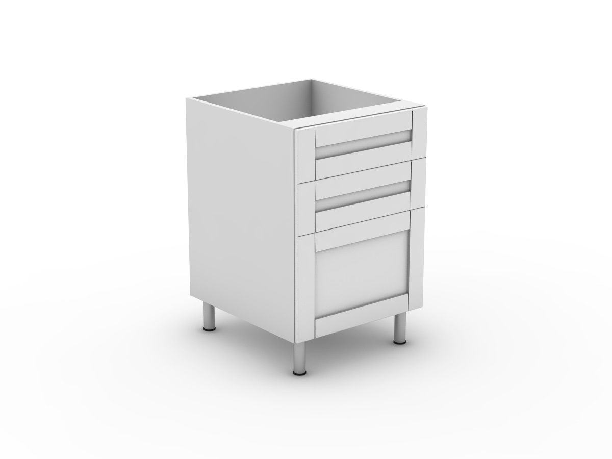 HAMPTION - 3 DRAWERS - 2 SMALL + 1 POT (B3002S1PMB)