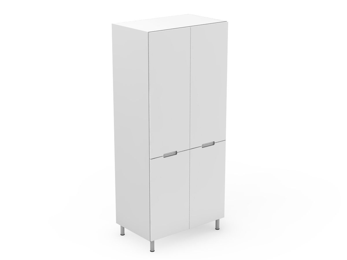 INTEGRATED HANDLE - 4 DOOR PANTRY - SPLIT AT BENCHTOP HEIGHT (P400-4SDB)
