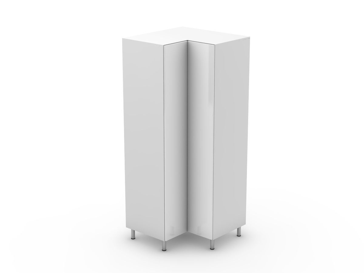 POLY DOORS - CORNER PANTRY - BI FOLD DOORS - SOLID BASE (CP900-BF)