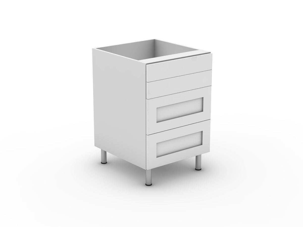SHAKER - 4 DRAWERS - 2 SMALL + 2 POT (B3002S2PMB)