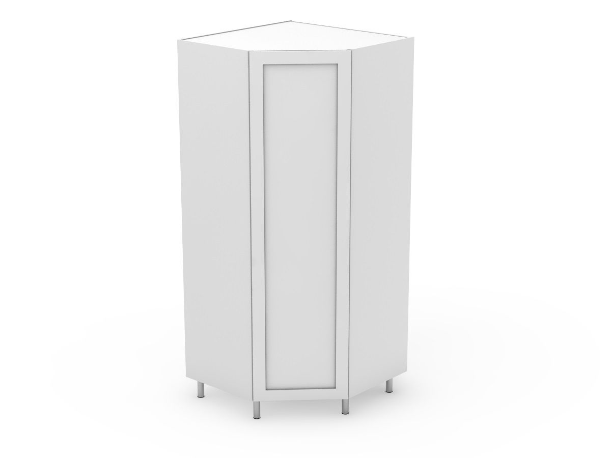 SHAKER - CORNER PANTRY 1 ANGLED DOOR - SOLID BASE (CP900-1)