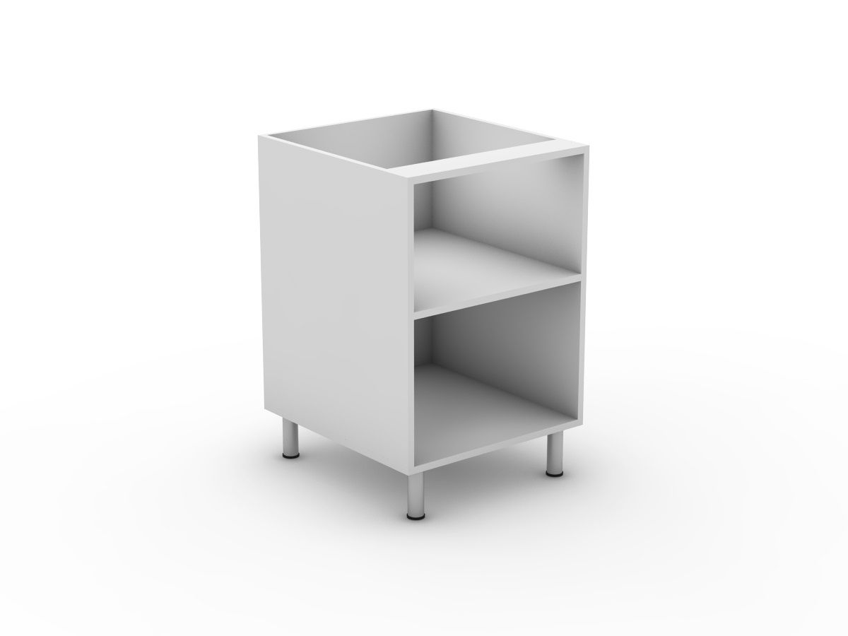 INTEGRATED HANDLE - OPEN BASE CABINET (B300O)