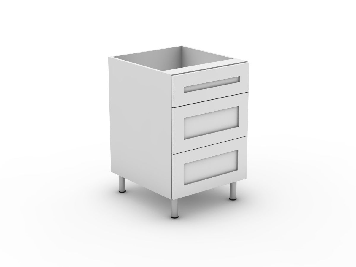 SHAKER - 3 DRAWERS - 1 SMALL + 2 POT (B3001S2PMB)