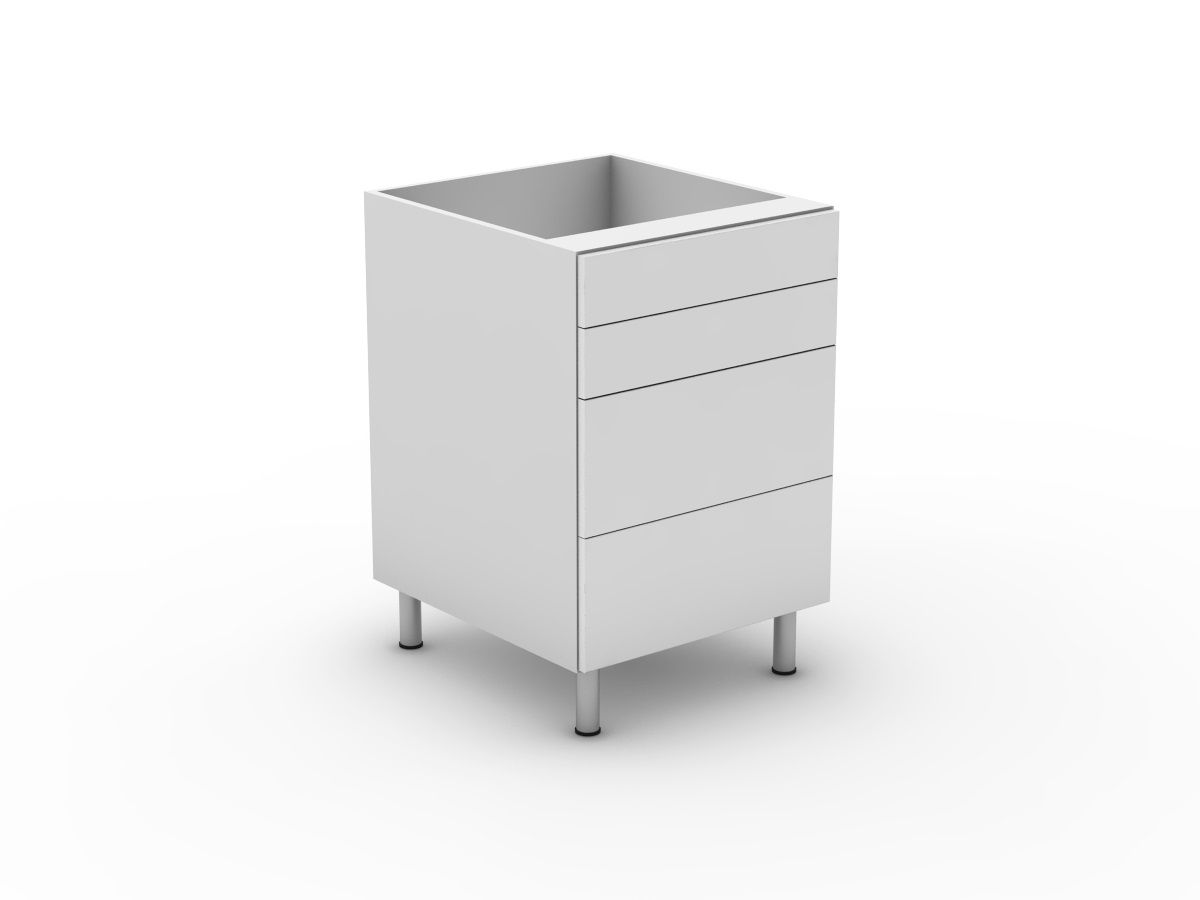 POLY DOORS -4 DRAWERS - 2 SMALL + 2 POT (B3002S2PMB)