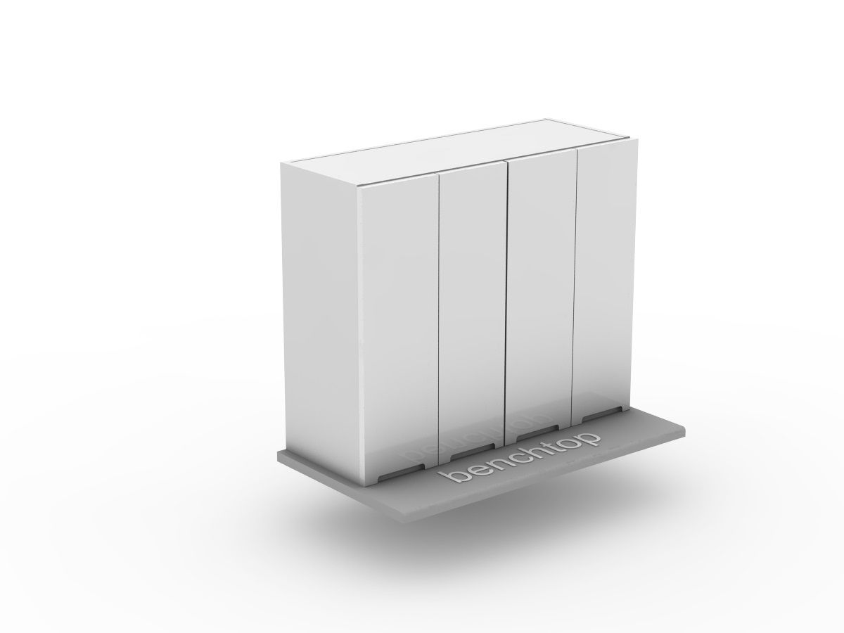 INTEGRATED HANDLE - 2 SET BI FOLD - BENCHTOP APPLIANCE CABINET (OB600BF-2)