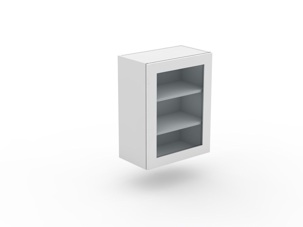 SHAKER - 1 DOOR CABINET - GLASS INSERT (W300-1G)