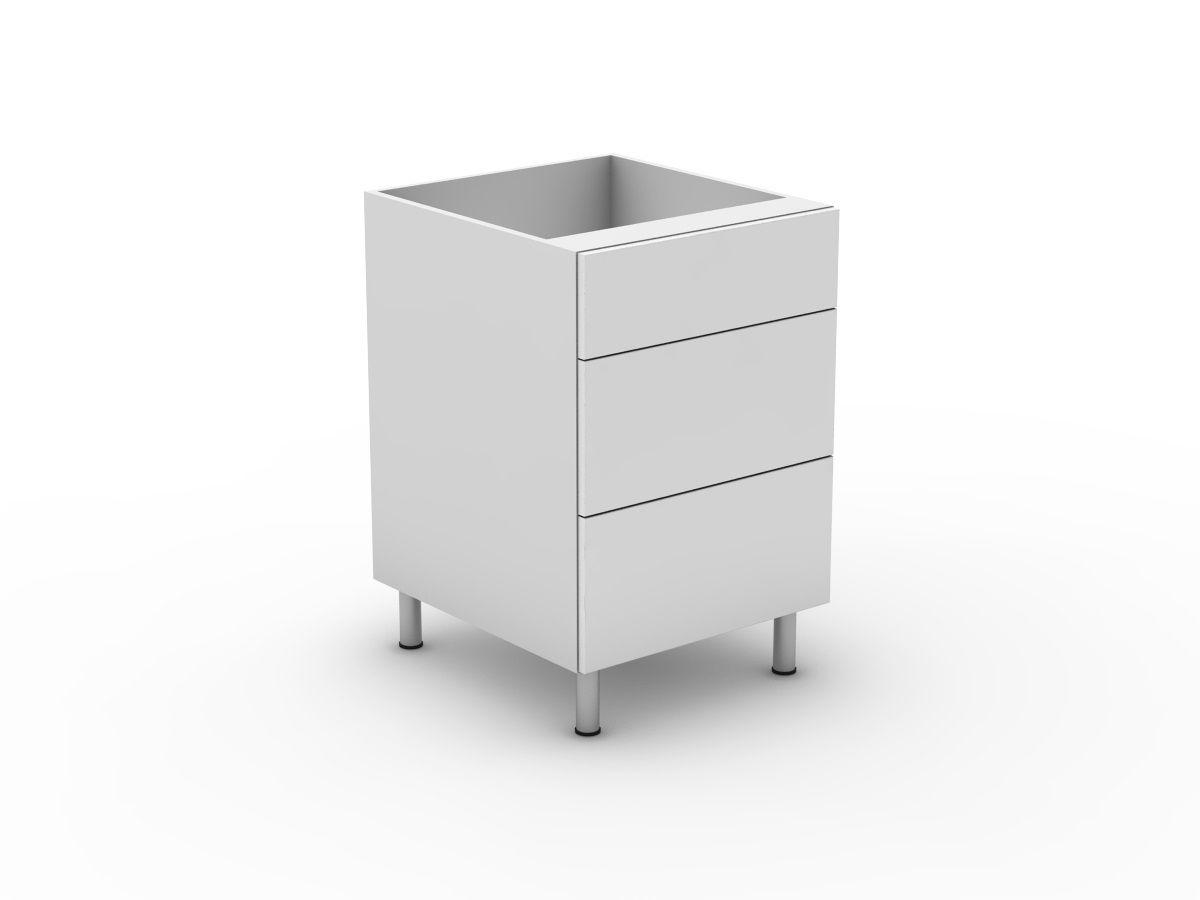 POLY DOORS - 3 DRAWERS - 1 SMALL + 2 POT (B3001S2PMB)