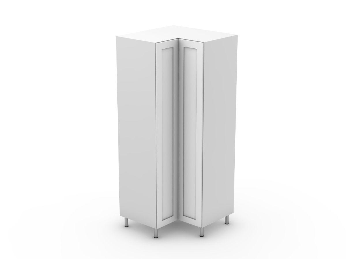 SHAKER - CORNER PANTRY - BI FOLD DOORS - SOLID BASE (CP900-BF)