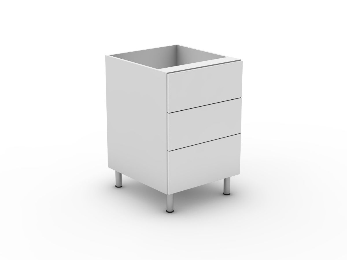 POLY DOORS - 3 DRAWERS - 2 MEDIUM + 1 POT (B3002M1PMB)
