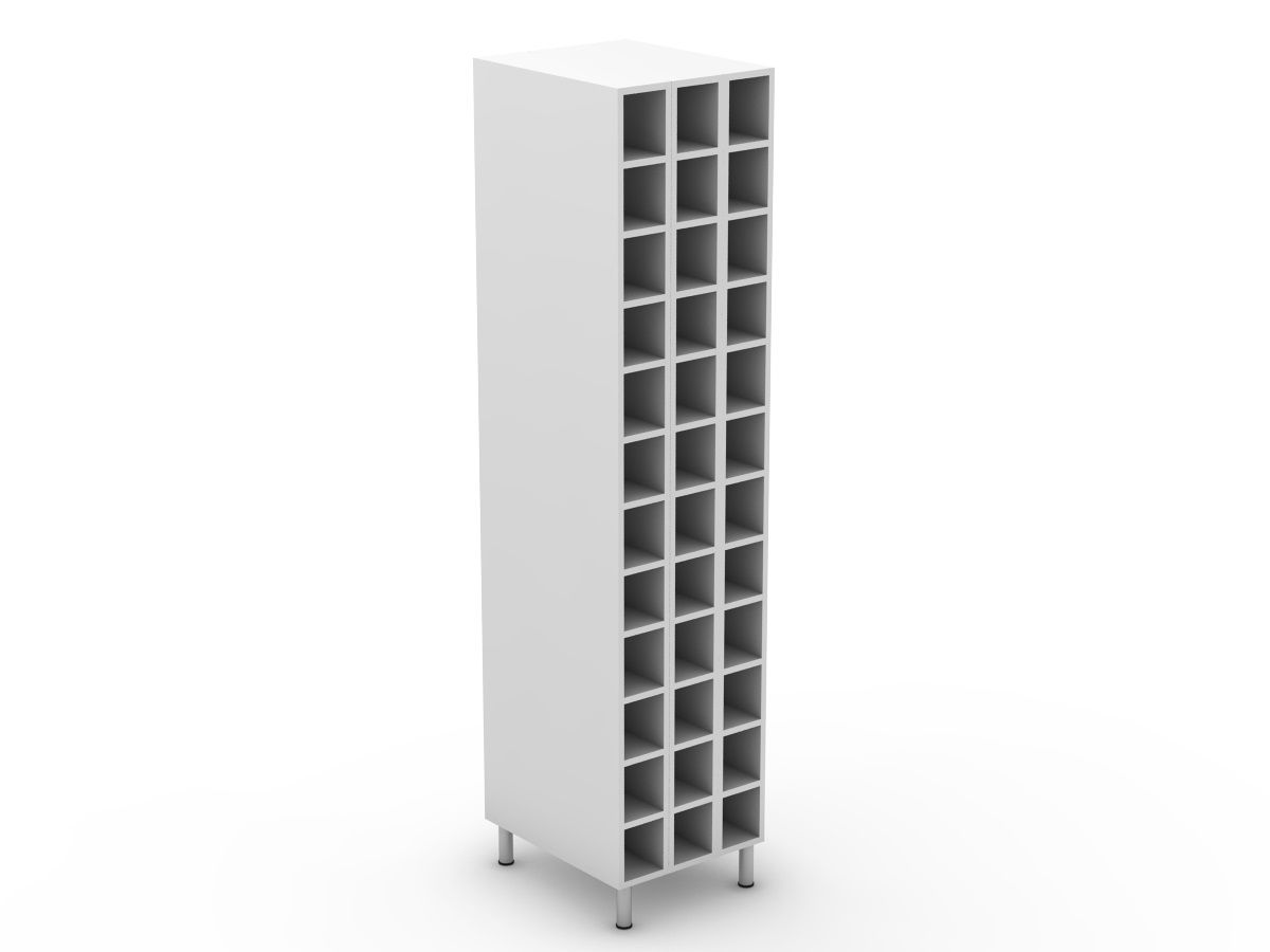 POLY DOORS - PANTRY WINE RACK - 3 ROW (P450WR)