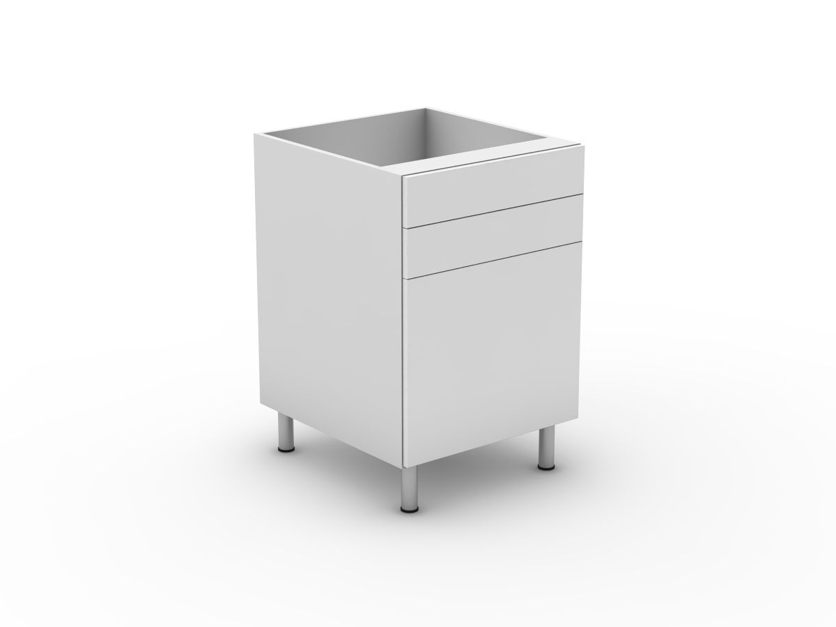 POLY DOORS - 2 DRAWERS + 1 DOOR (B300-12MB)