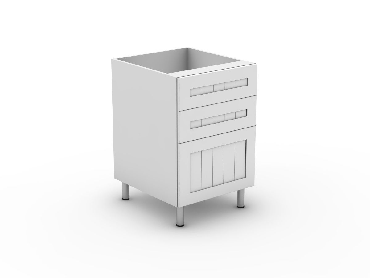 PROVINCIAL - 3 DRAWERS - 2 SMALL + 1 POT (B3002S1PMB)