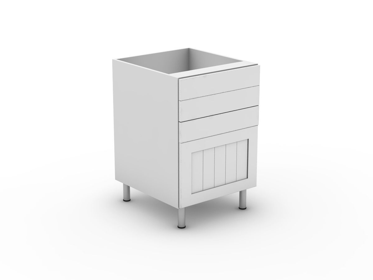 PROVINCIAL - 4 DRAWERS - 3 SMALL + 1 POT (B3003S1PMB)