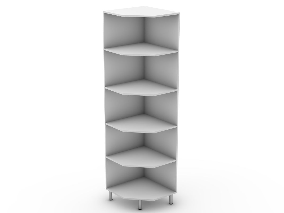 PROVINCIAL - OPEN PANTRY CABINET - ANGLED SHELVES (P300EA)